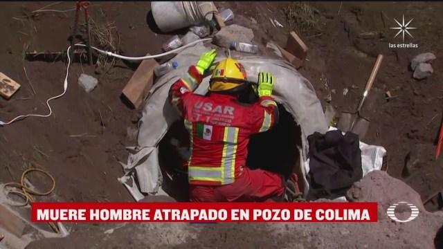 muere hombre atrapado en pozo de colima
