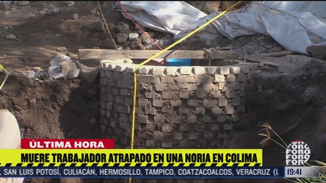 muere trabajador atrapado en una noria en colima