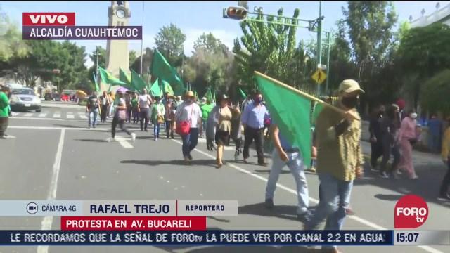 organizacion campesina marcha sobre bucareli