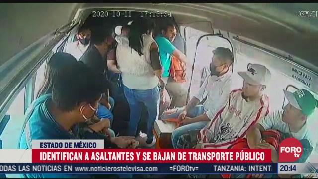 pasajeros reconocen a asaltantes y se bajan de combi antes de asalto en edomex
