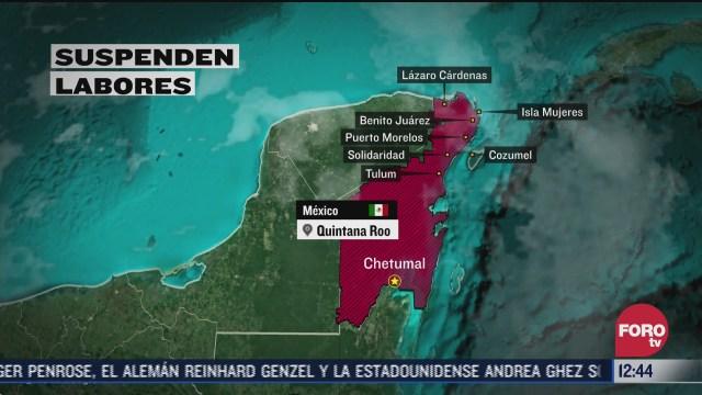 proteccion civil en alerta por huracan delta en peninsula de yucatan