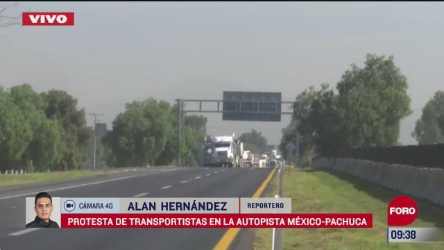 protesta bloquea autopista mexico pachuca