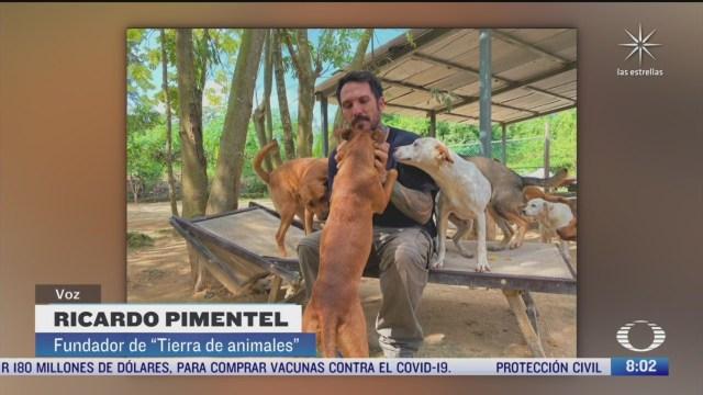 quien es el heroe que rescato a 300 perritos del huracan delta