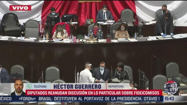reanudan discusion sobre fideicomisos en camara de diputados