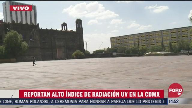 reportan alto indice de radiacion en la ciudad de mexico
