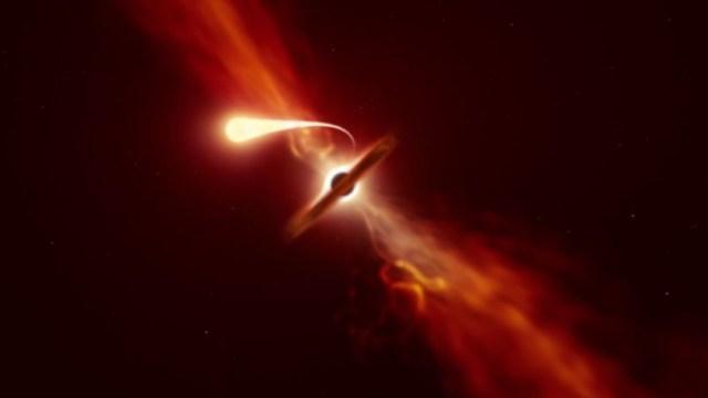 Representación gráfica de agujero negro