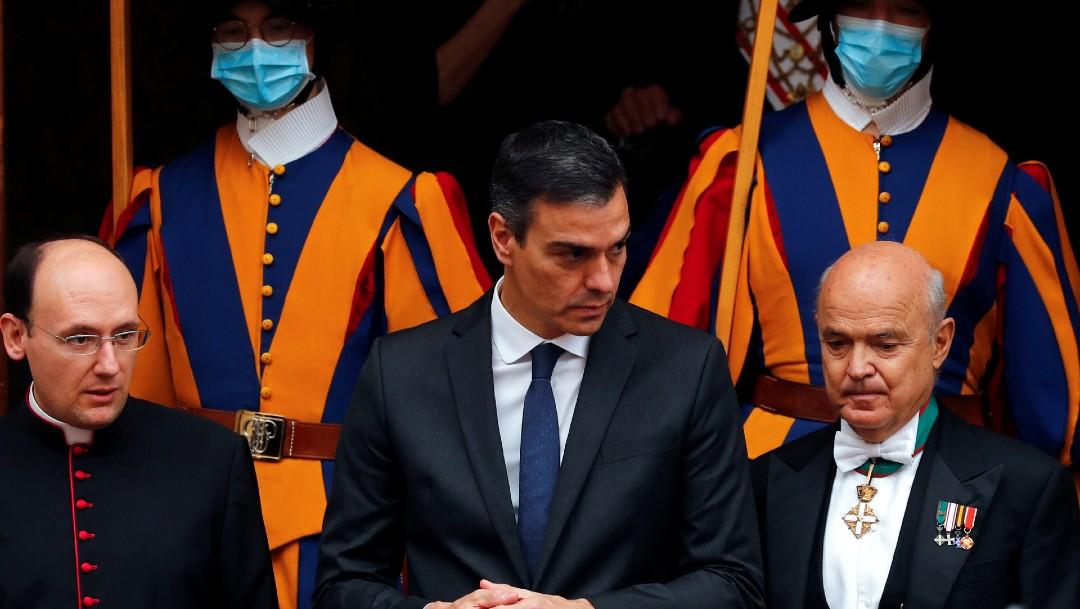 Reunión de papa Francisco con Pedro Sánchez duró mas de media hora; abandona Vaticano