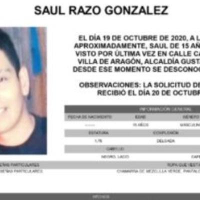 Activan Alerta Amber para localizar a Saúl Razo González