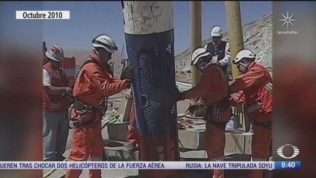 se cumplen 10 anos del rescate de mineros atrapados en chile