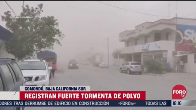 se regista impresionante tormenta de polvo en comondu baja california