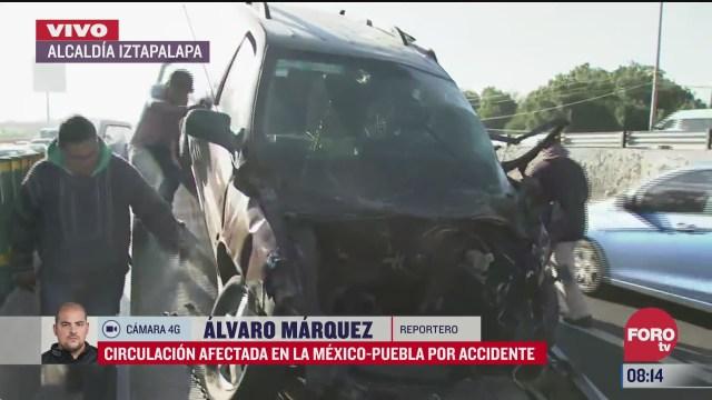 se registra accidente en la autopista mexico puebla