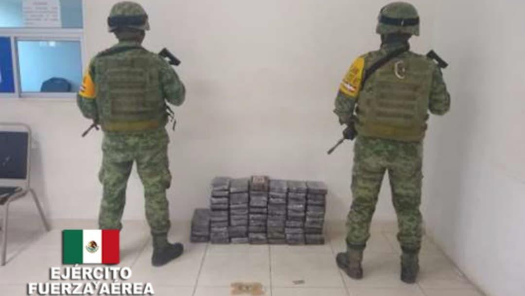 SEDENA decomisa 64 kg de cocaína en Matamoros