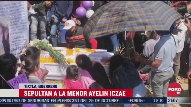 sepultan a la menor ayelin iczae en tixtla guerrero