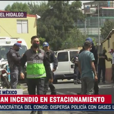 Sofocan incendio al interior de bodega de estacionamiento de la Miguel Hidalgo