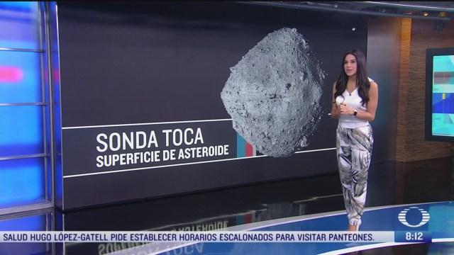 sonda de la nasa recoge muestras de un asteroide