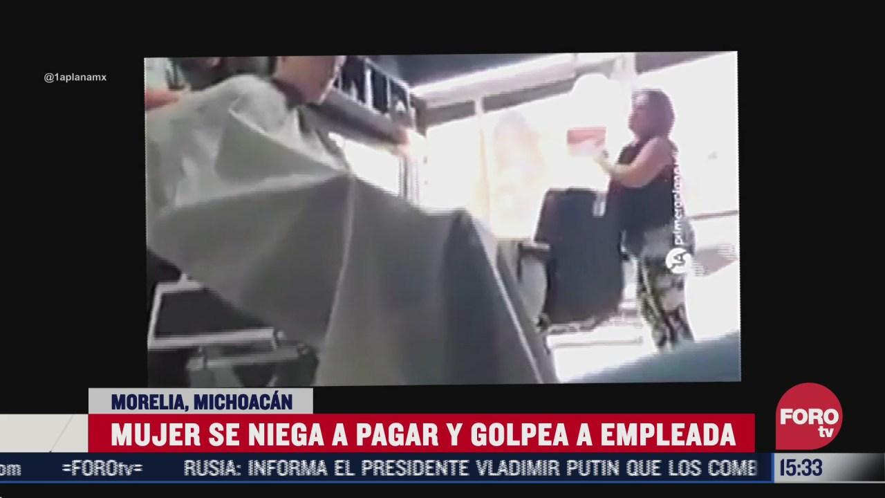 surge lady 40 pesos por negarse a pagar corte de cabello en morelia