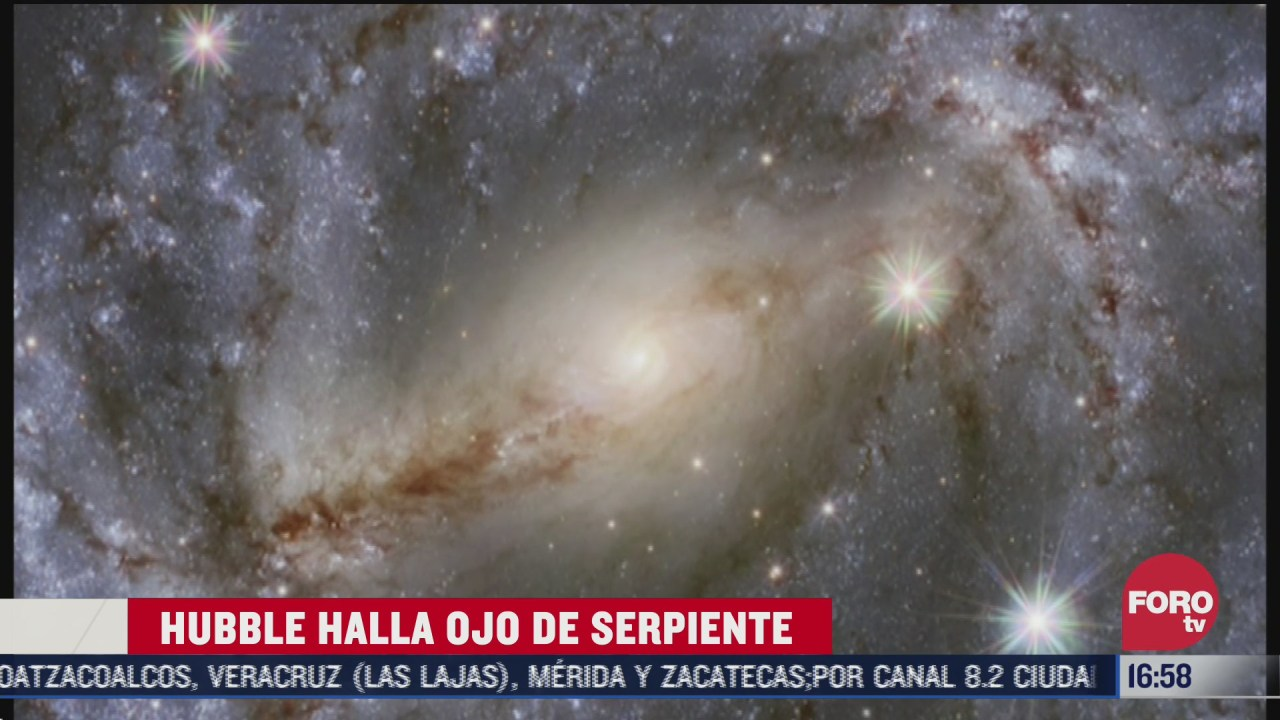 telescopio hubble capta galaxia a 35 millones de anos luz