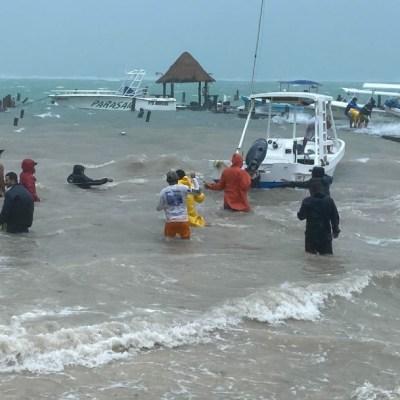 Seguirán las lluvias intensas en la Península de Yucatán por tormenta Gamma