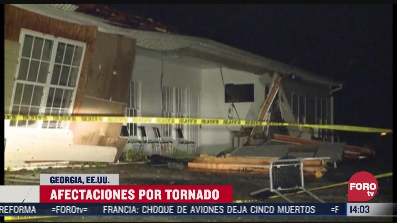 tornado deja danos en refugio de georgia