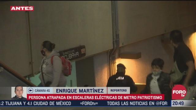 trabajador queda atrapado en escaleras electricas del metro patriotismo