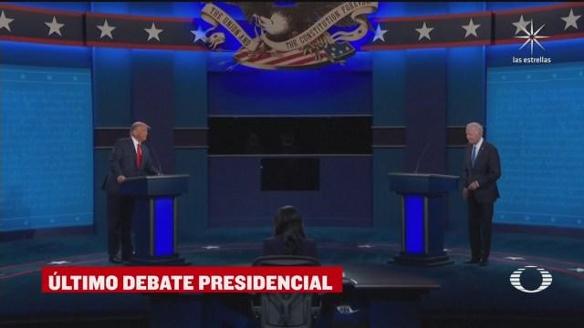 Último debate presidencial entre Trump y Biden