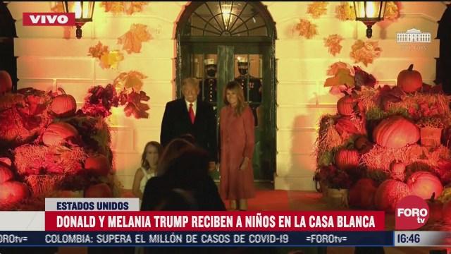 trump y melania realizan acto de halloween en la casa blanca