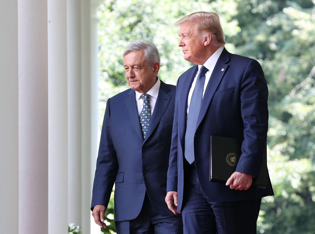 Donald Trump, AMLO; Casa Blanca, tratado comercial