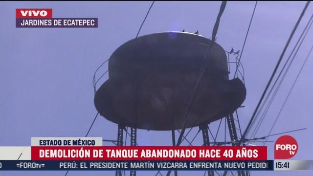 vecinos de ecatepec piden demolicion de tanque de agua abandonado hace 40 anos
