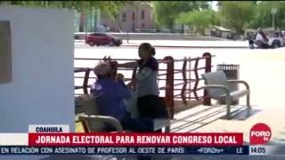 voto en coahuila enfrenta altas temperaturas y covid