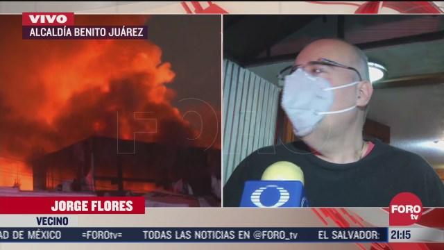 250 vecinos fueron evacuados por incendio en avenida universidad