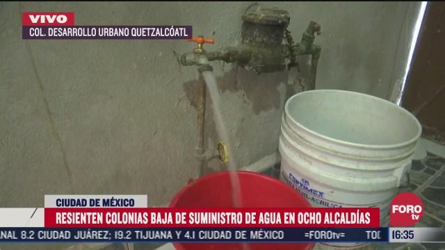 alcaldia iztapalapa resiente disminucion de agua en cdmx