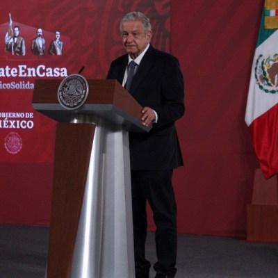 Andrés Manuel López Obrador, presidente de México, durante la conferencia matutina