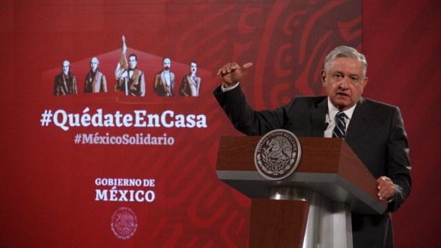 El presidente de México, Andrés Manuel López Obrador (AMLO), en su conferencia de prensa matutina