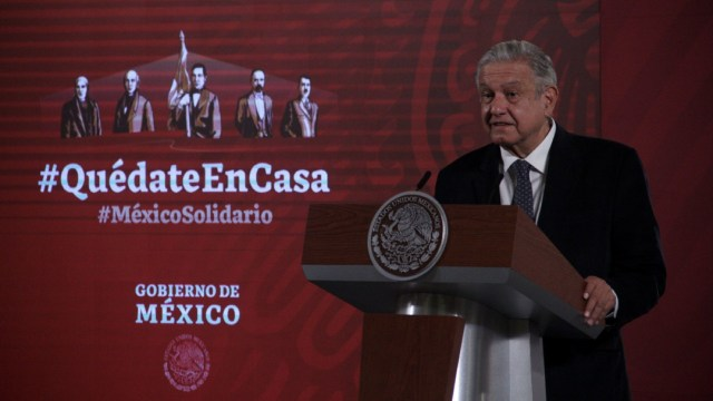 Andrés Manuel López Obrador, presidente de México, durante la conferencia matutina.