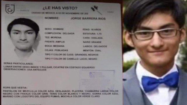 Aparece con vida Jorge Barrera, estudiante de la Prepa 5 que fue víctima de una broma