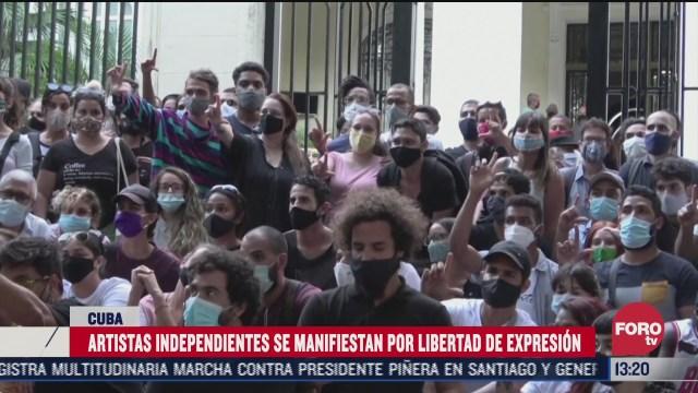 artistas de cuba piden mayor libertad de expresion