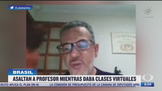 asaltan a profesor mientras daba clases virtuales en brasil