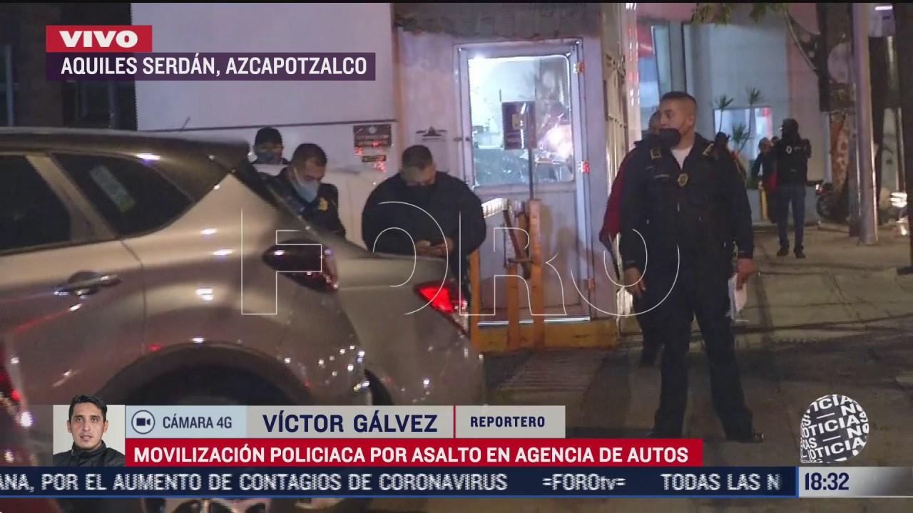 asaltan agencias de autos en aquiles serdan cdmx
