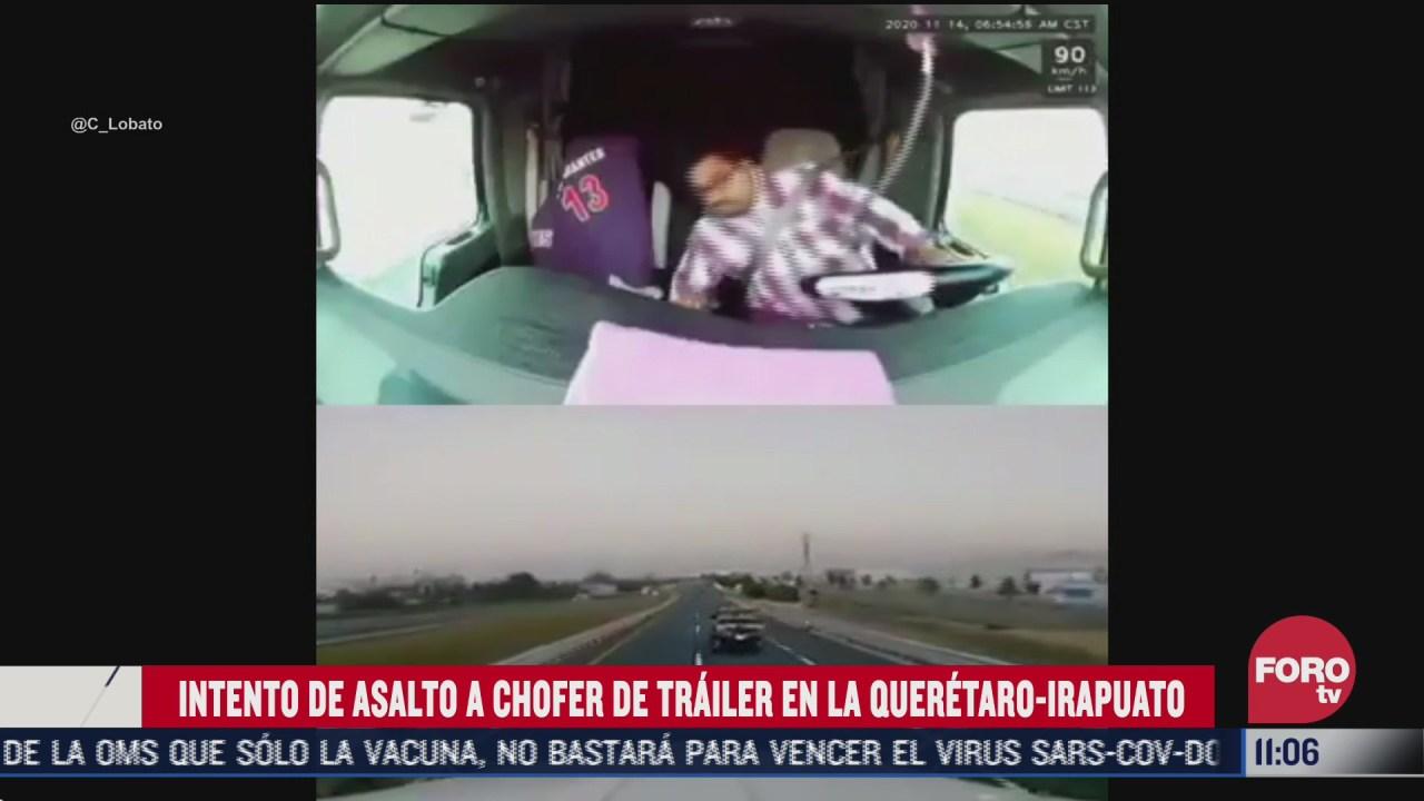 atacan a balazos a conductor de trailer en la queretaro irapuato