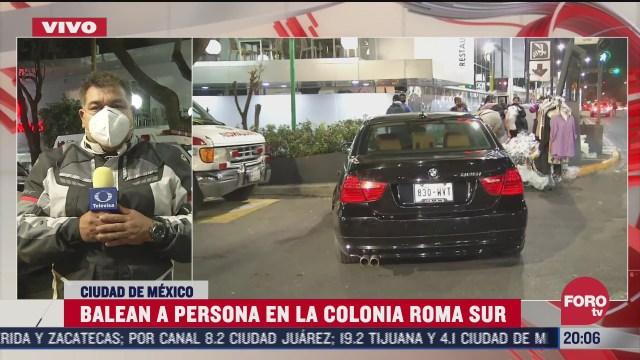 balean a extranjero durante asalto en la colonia roma cdmx