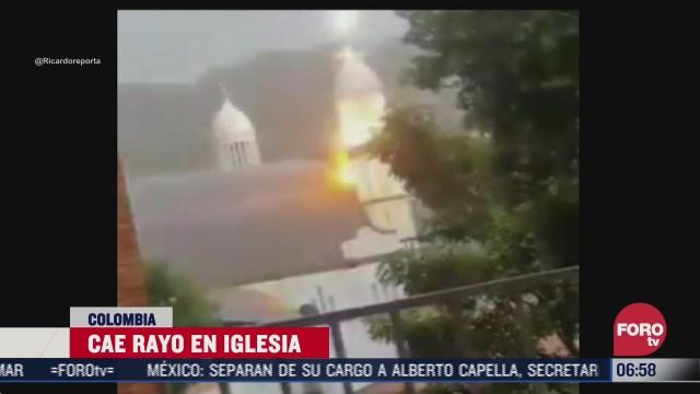 cae rayo en iglesia de colombia