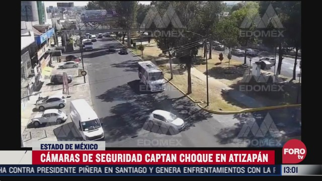 camaras del c5 graban accidente vial en atizapan
