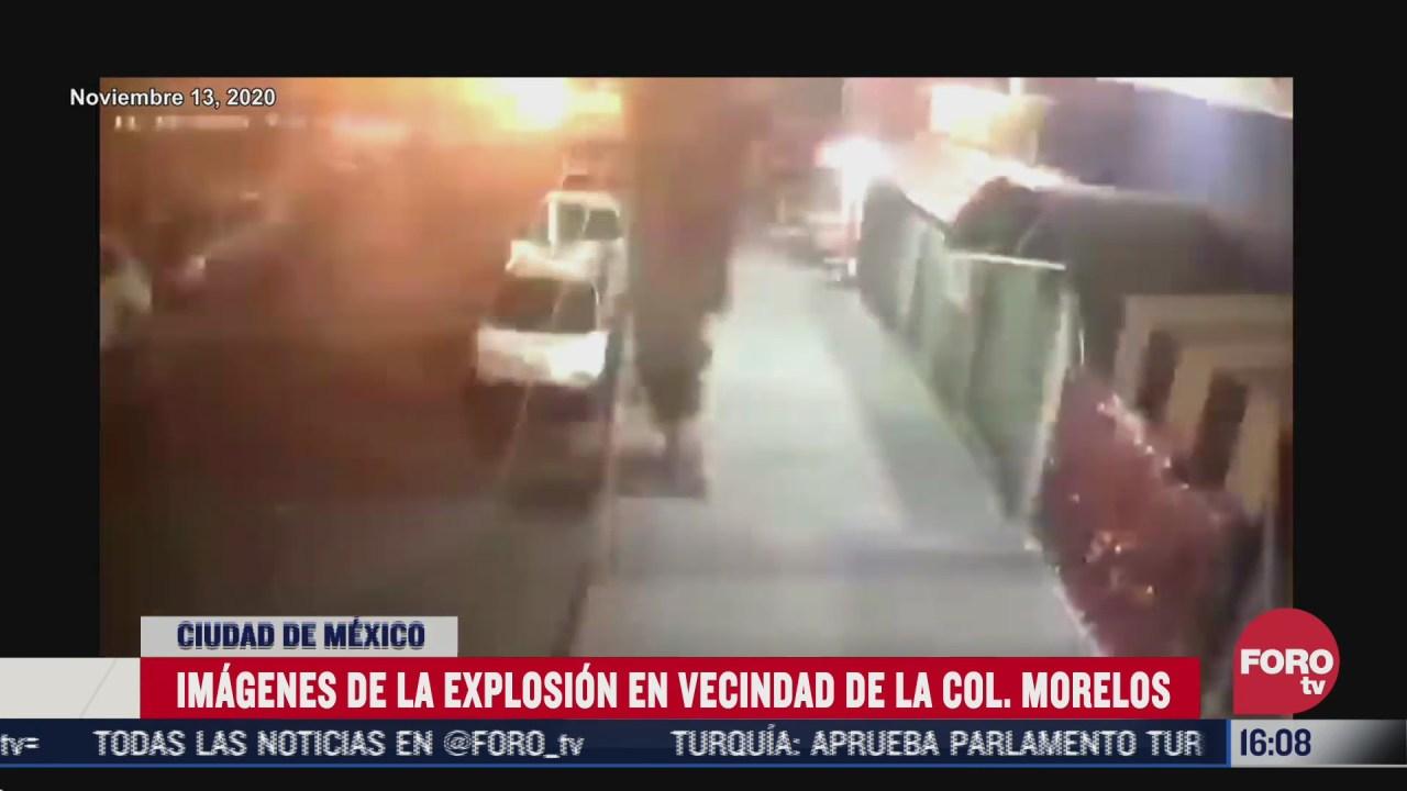 captan momento de explosion en vecindad en colonia morelos cdmx