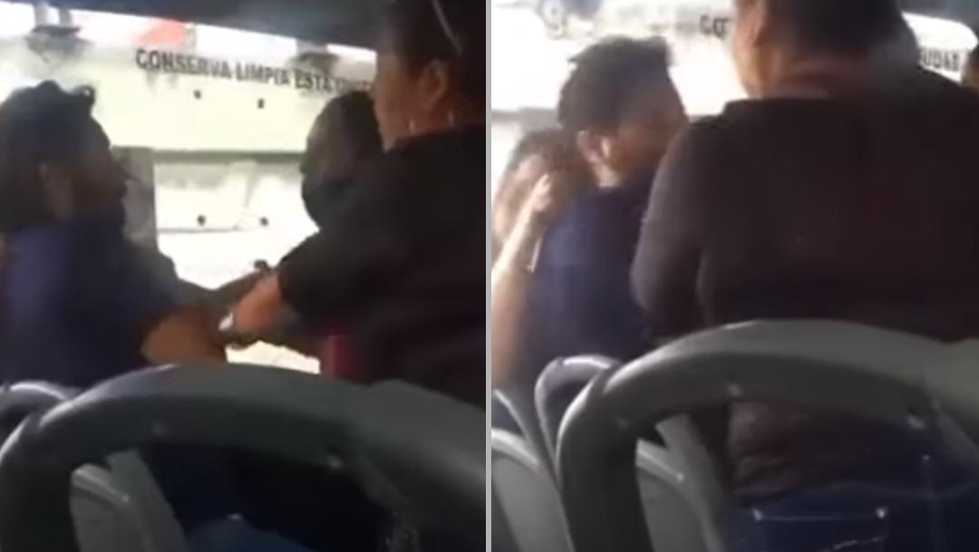 Suegra y esposa golpean a hombre que viajaba con 'novia'