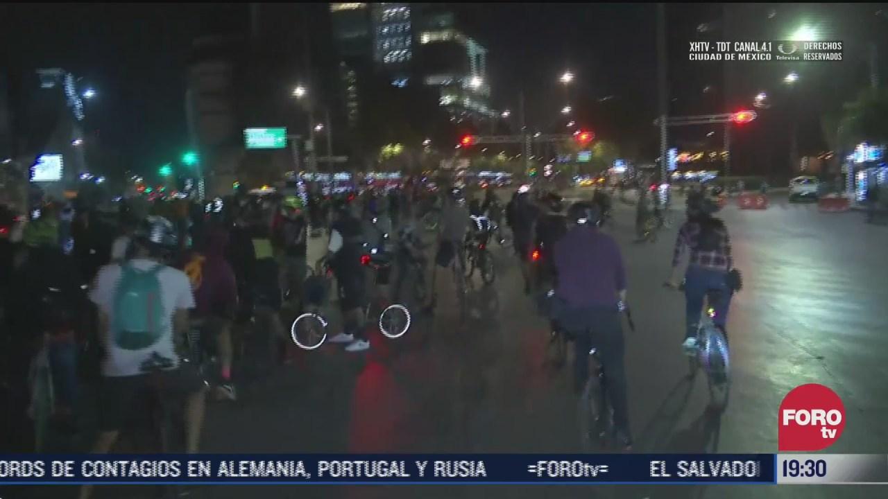 ciclistas protestan en paseo de la reforma