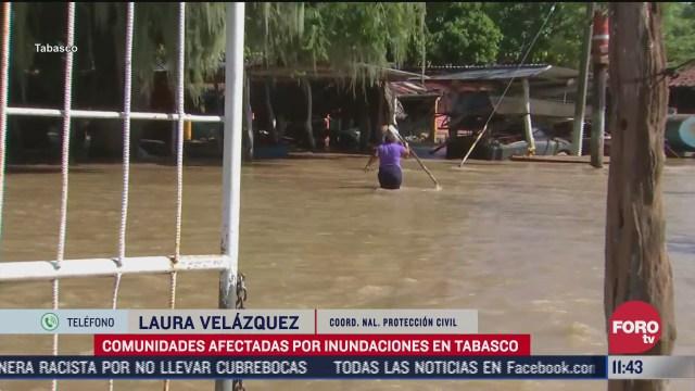 comunidades siguen afectadas por inundaciones en tabasco