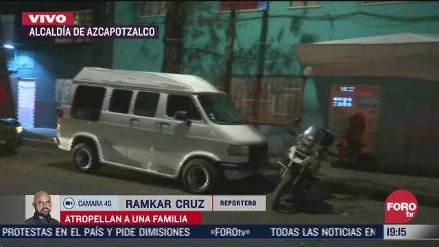 conductor se da a la fuga tras arrollar a familia en la venustiano carranza