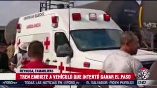 conductora termina arrollada por tren en tamaulipas