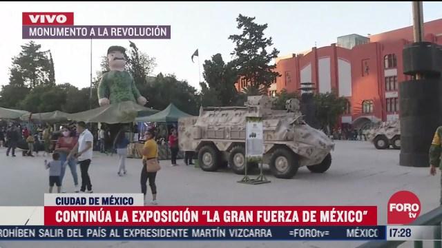 continua exposicion de la sedena en monumento a la revolucion