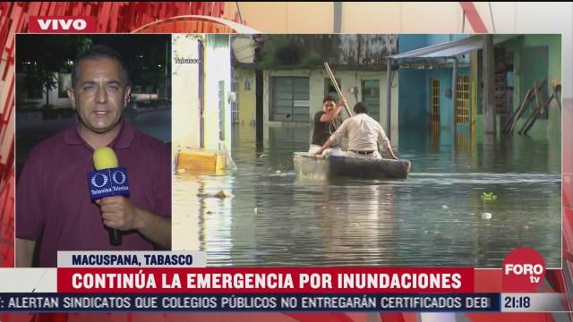 continuan inundaciones en tabasco